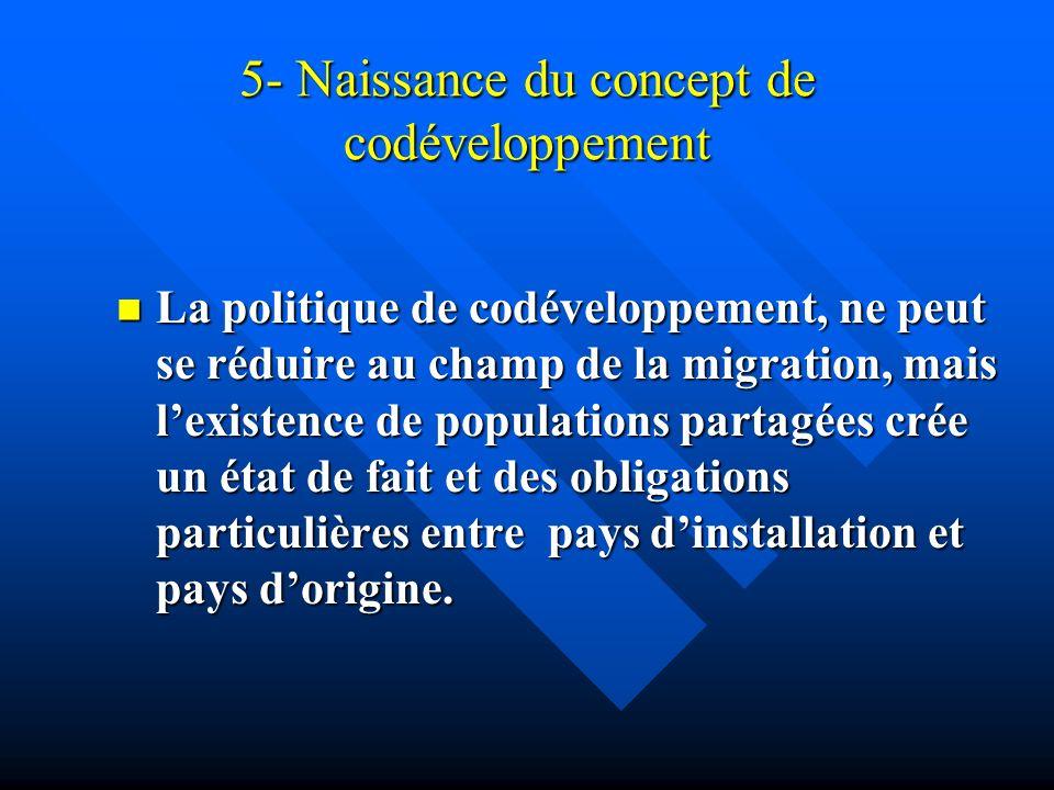 5- Naissance du concept de codéveloppement