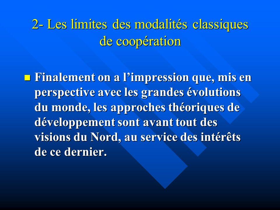 2- Les limites des modalités classiques de coopération