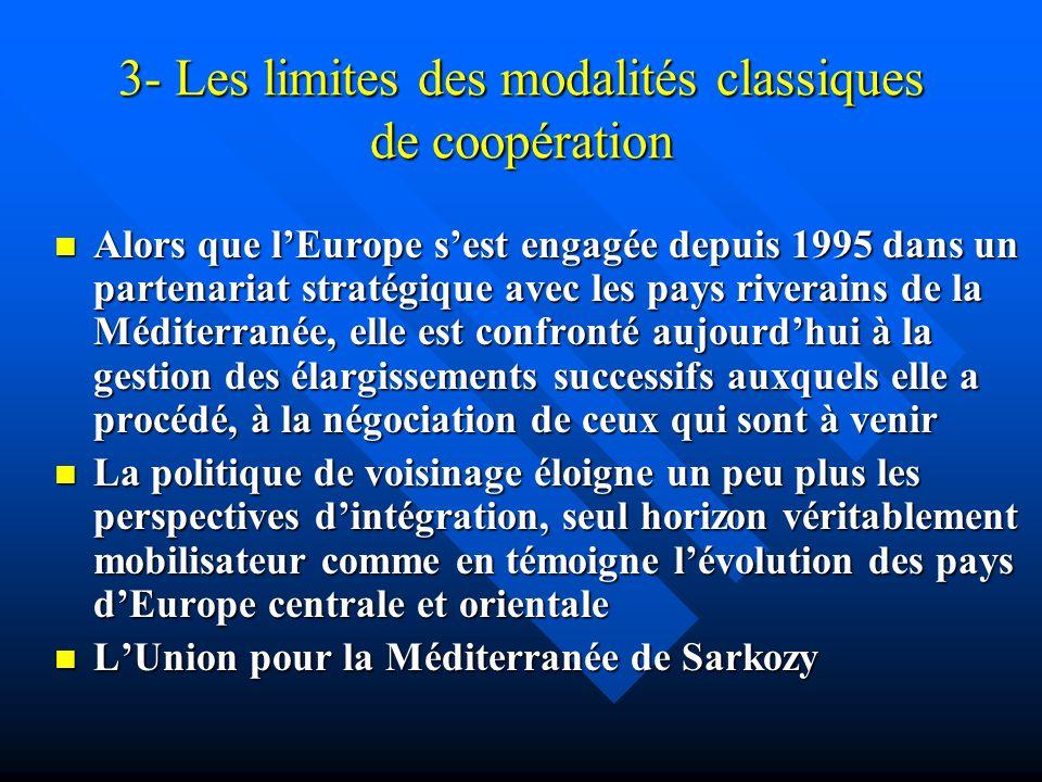 3- Les limites des modalités classiques de coopération