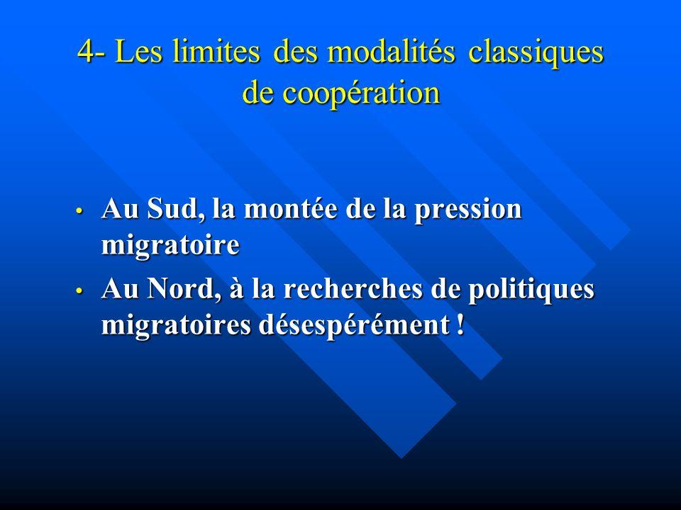 4- Les limites des modalités classiques de coopération