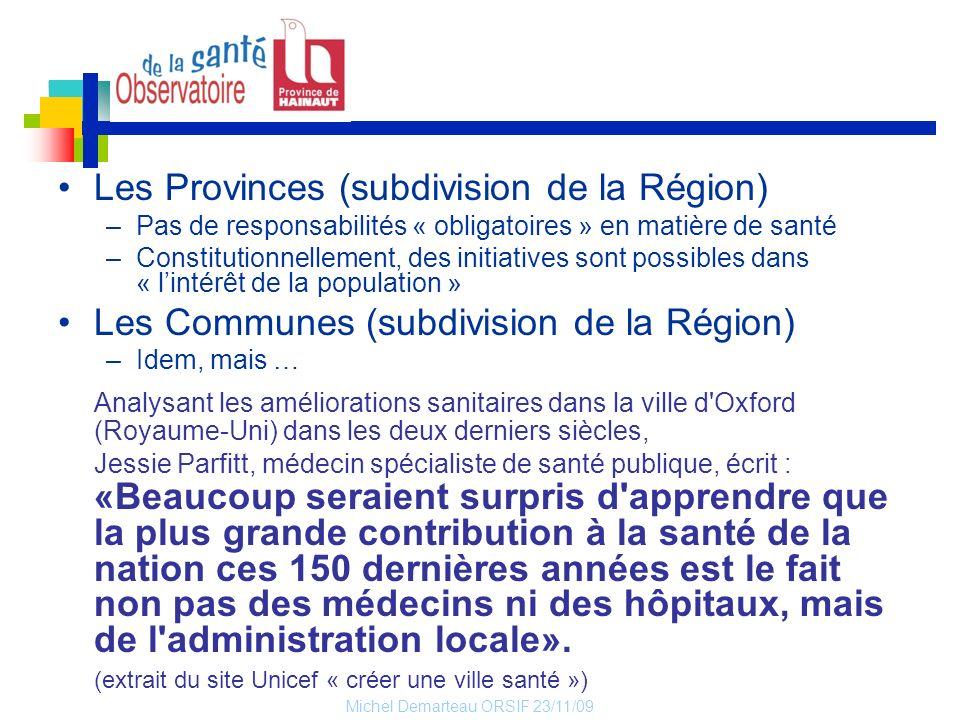 Les Provinces (subdivision de la Région)