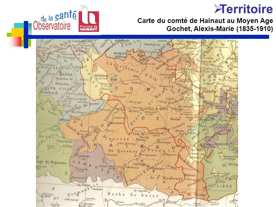 Territoire Carte du comté de Hainaut au Moyen Age Gochet, Alexis-Marie (1835-1910)