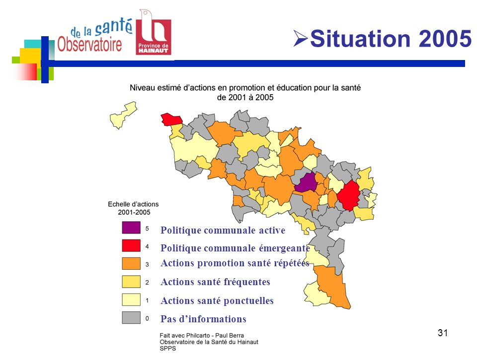 Situation 2005 Politique communale active