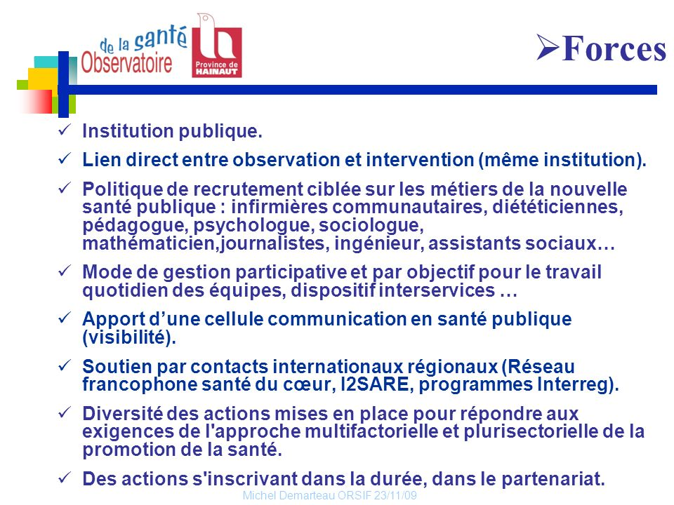 Forces Institution publique.