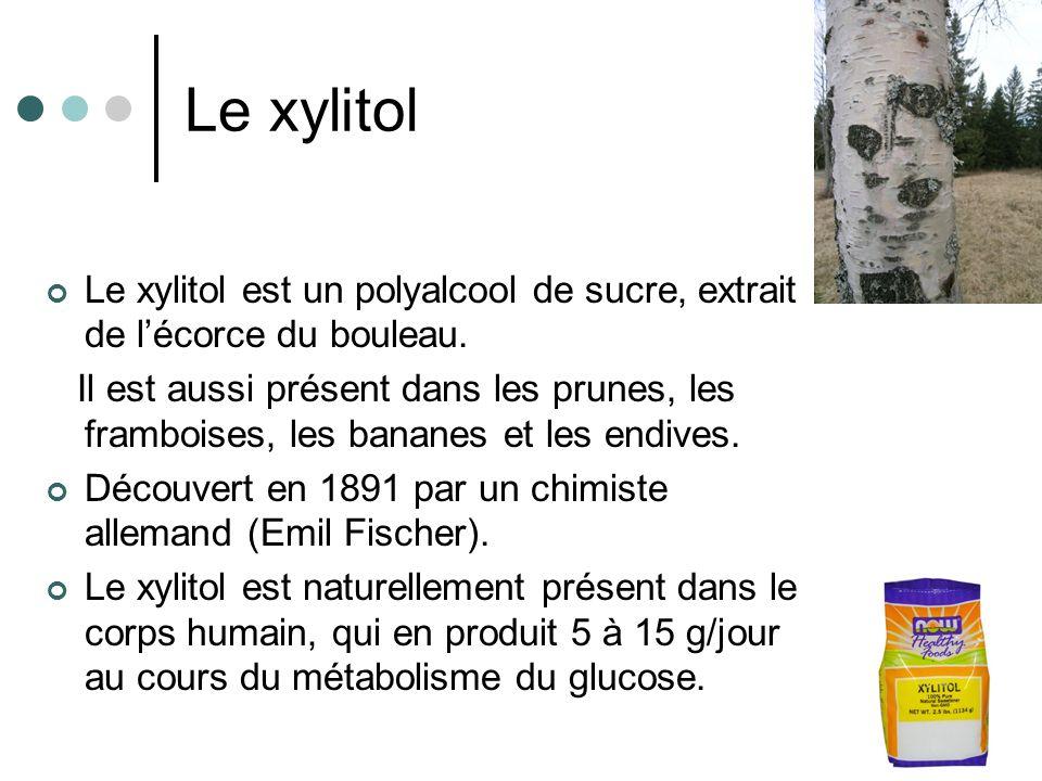 Le xylitol Le xylitol est un polyalcool de sucre, extrait de l'écorce du bouleau.