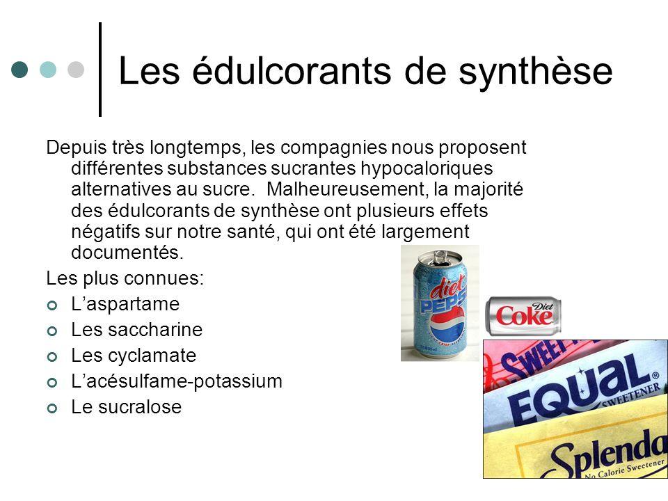Les édulcorants de synthèse