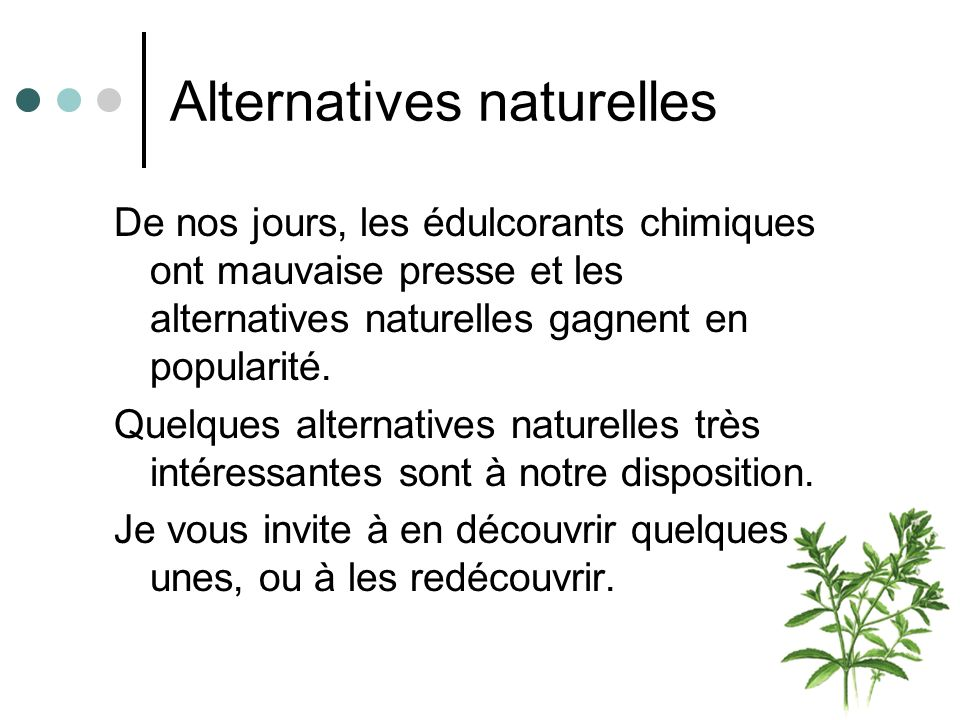 Alternatives naturelles