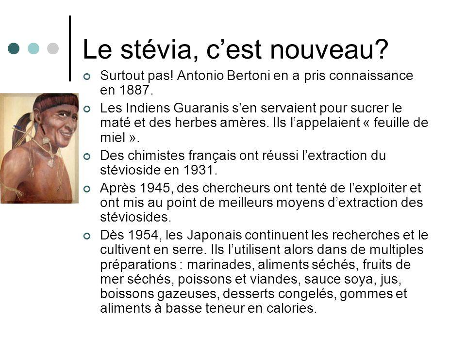 Le stévia, c'est nouveau