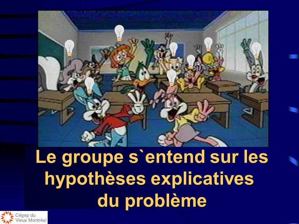 Le groupe s`entend sur les hypothèses explicatives