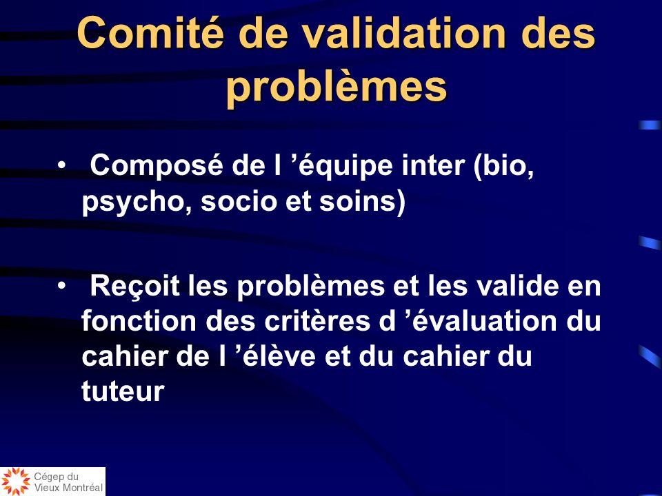 Comité de validation des problèmes