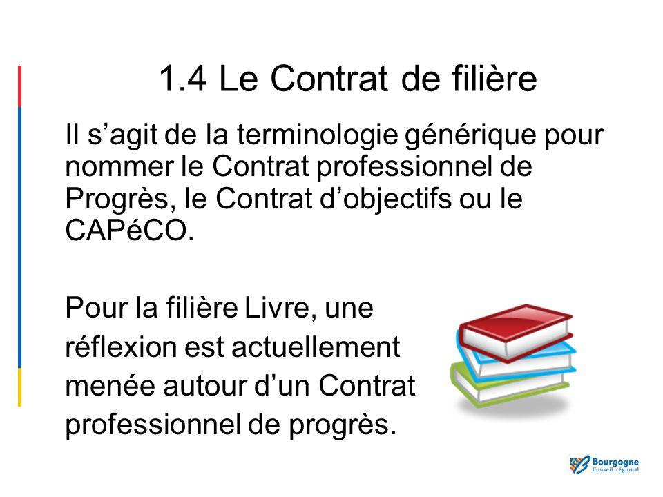 1.4 Le Contrat de filière