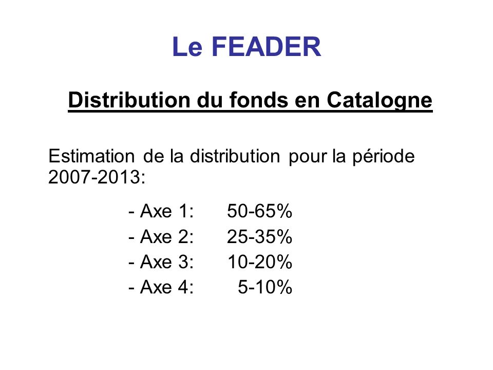 Distribution du fonds en Catalogne