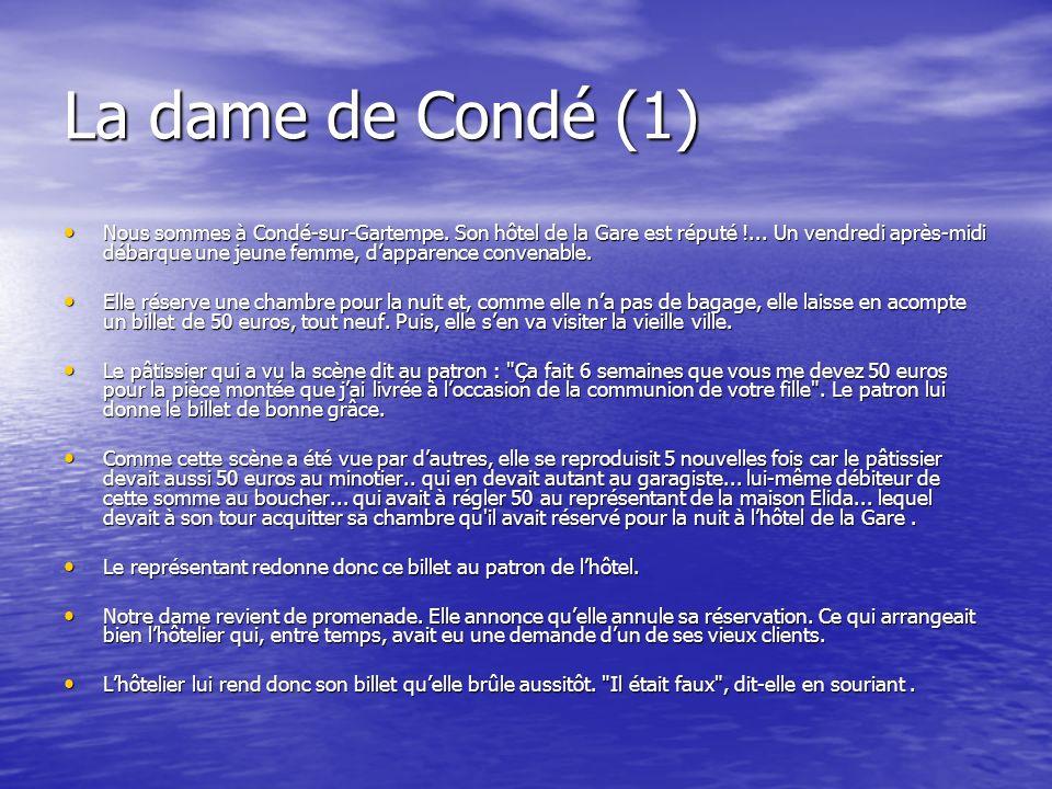 La dame de Condé (1)
