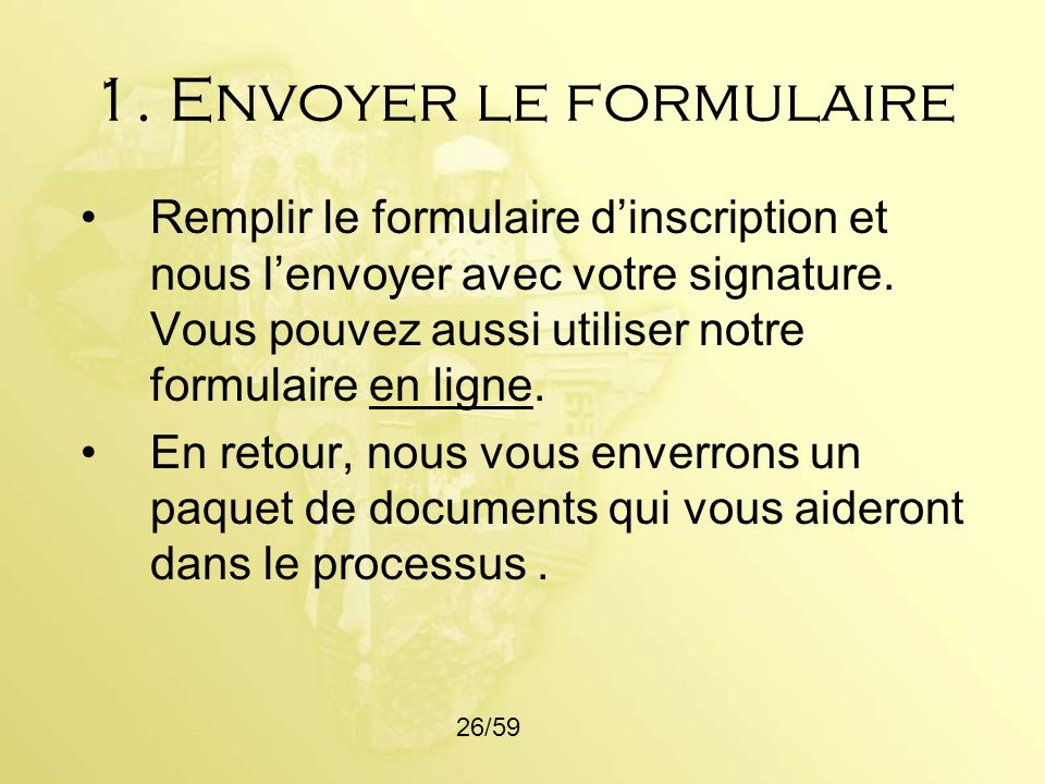 1. Envoyer le formulaire