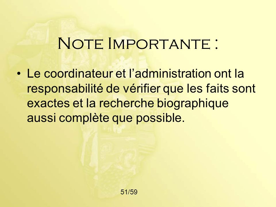 Note Importante :