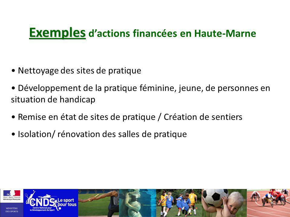 Exemples d'actions financées en Haute-Marne