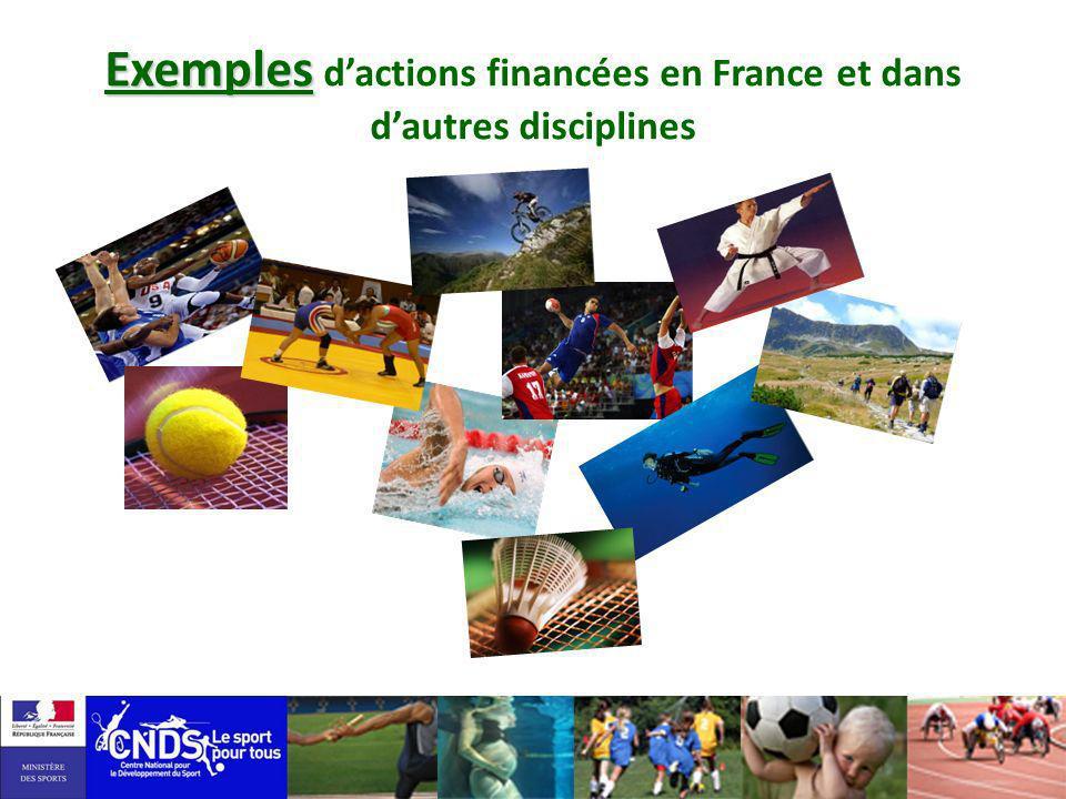 Exemples d'actions financées en France et dans d'autres disciplines