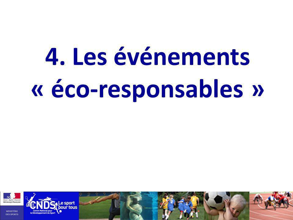 4. Les événements « éco-responsables »