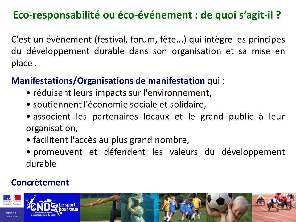 Eco-responsabilité ou éco-événement : de quoi s'agit-il
