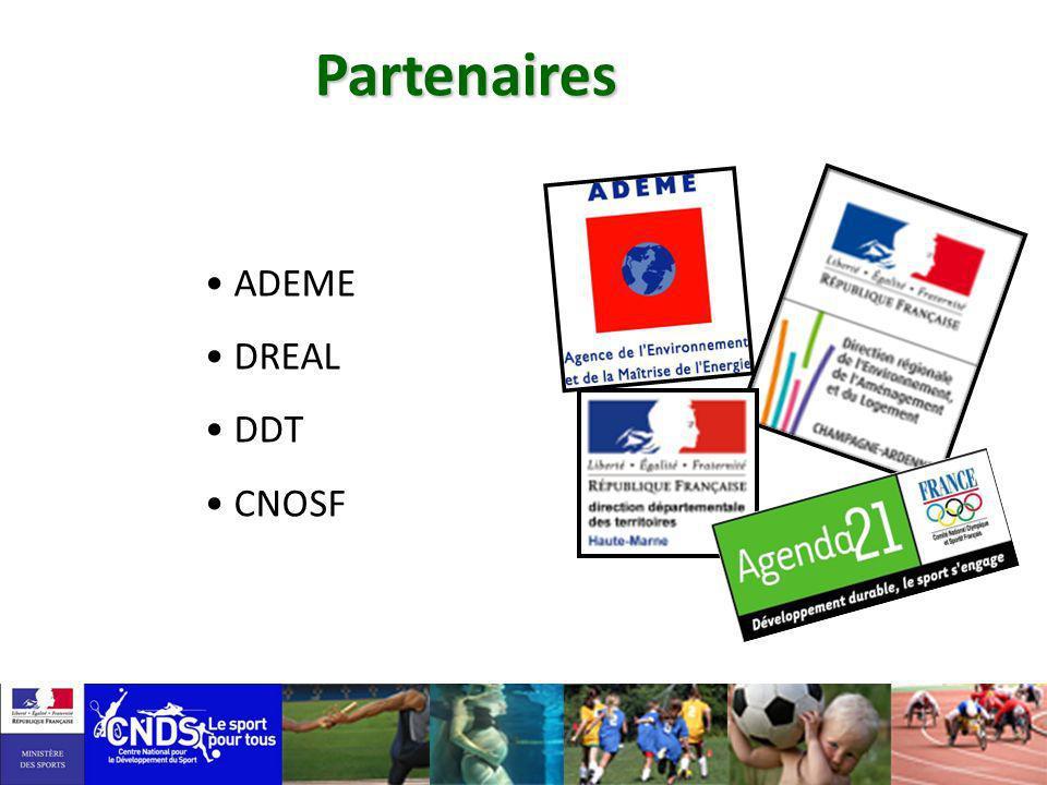 Partenaires ADEME DREAL DDT CNOSF