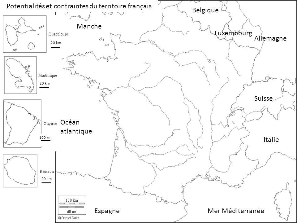 Potentialités et contraintes du territoire français Belgique