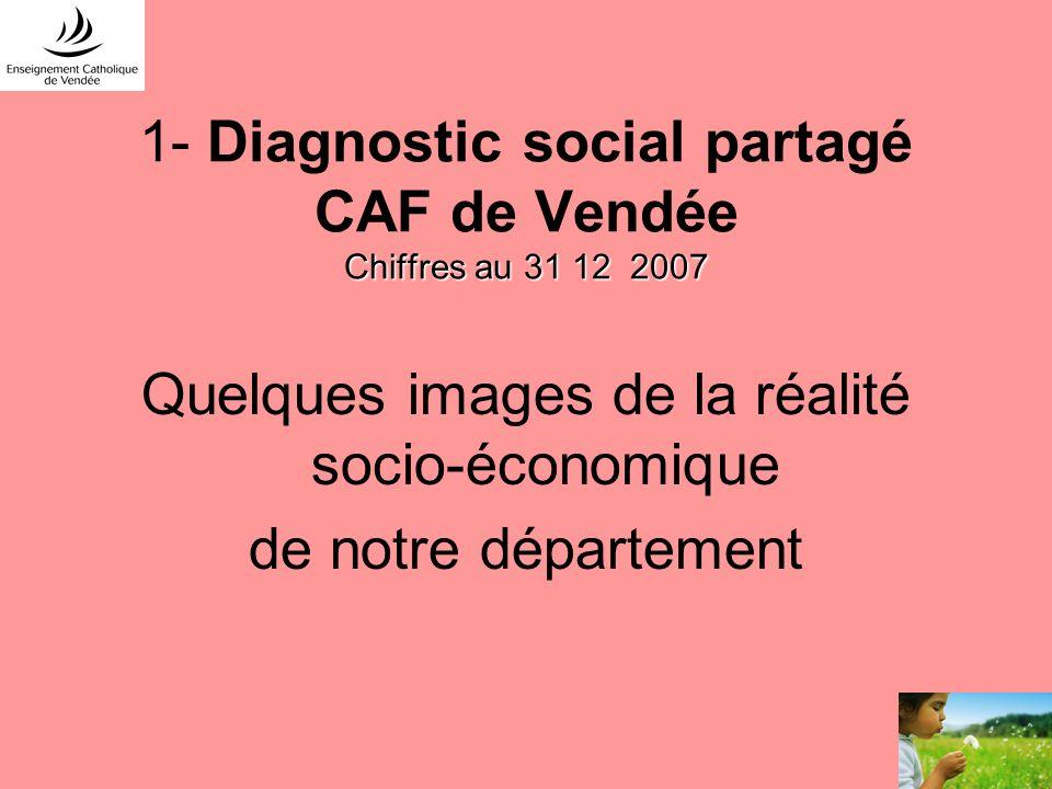 1- Diagnostic social partagé CAF de Vendée Chiffres au 31 12 2007