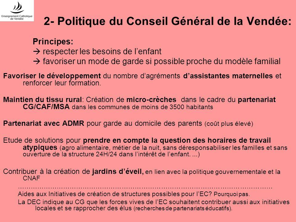 2- Politique du Conseil Général de la Vendée: