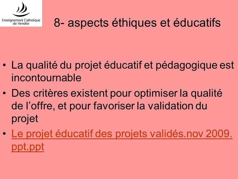 8- aspects éthiques et éducatifs