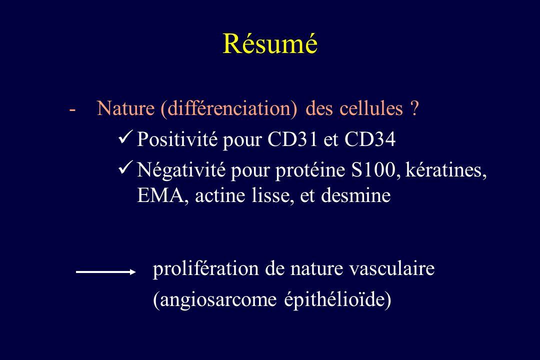 Résumé Nature (différenciation) des cellules
