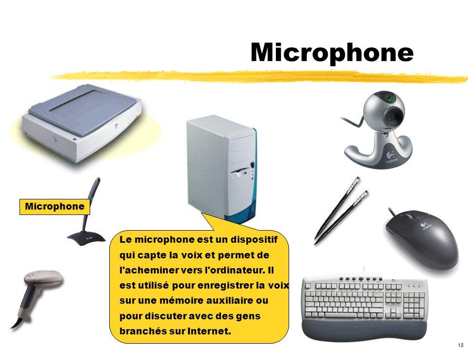 Microphone Microphone Le microphone est un dispositif