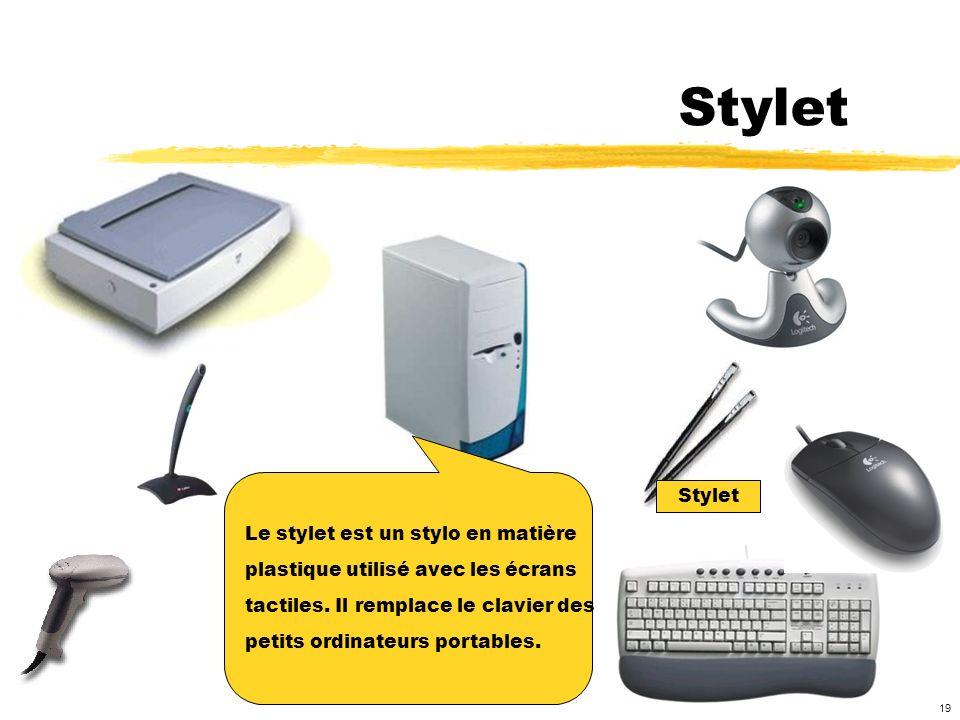 Stylet Stylet Le stylet est un stylo en matière