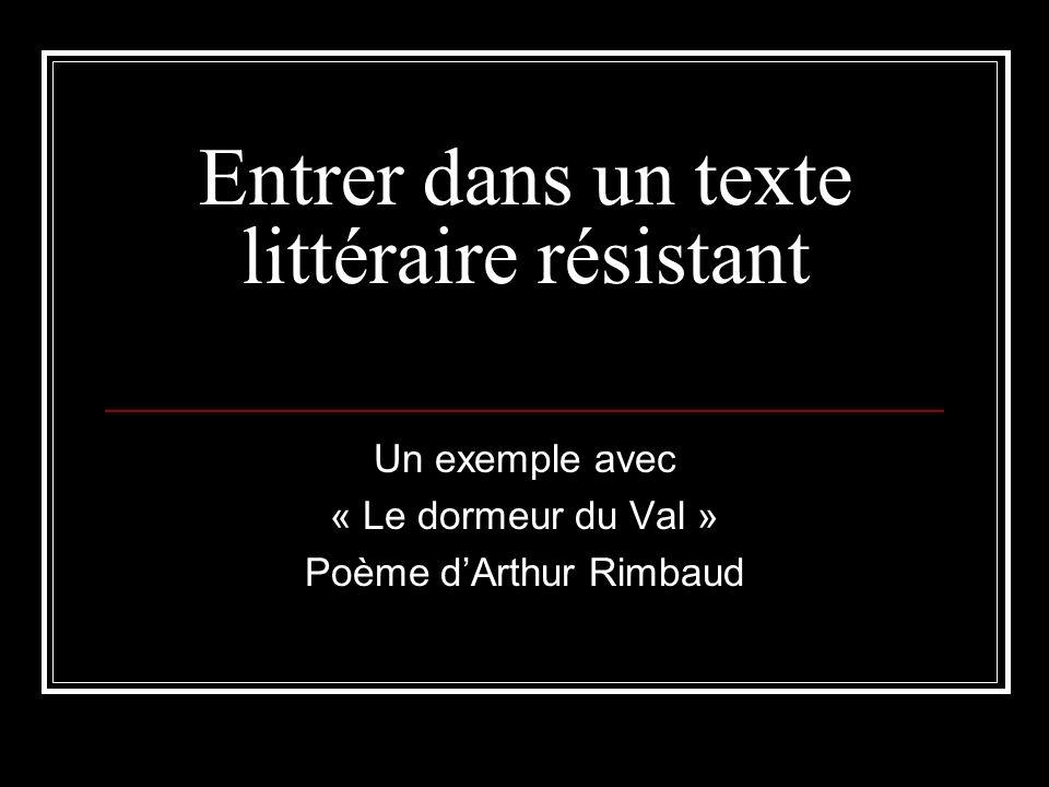 Lire dire crire en segpa ppt video online t l charger - Lecture analytique le dormeur du val arthur rimbaud ...