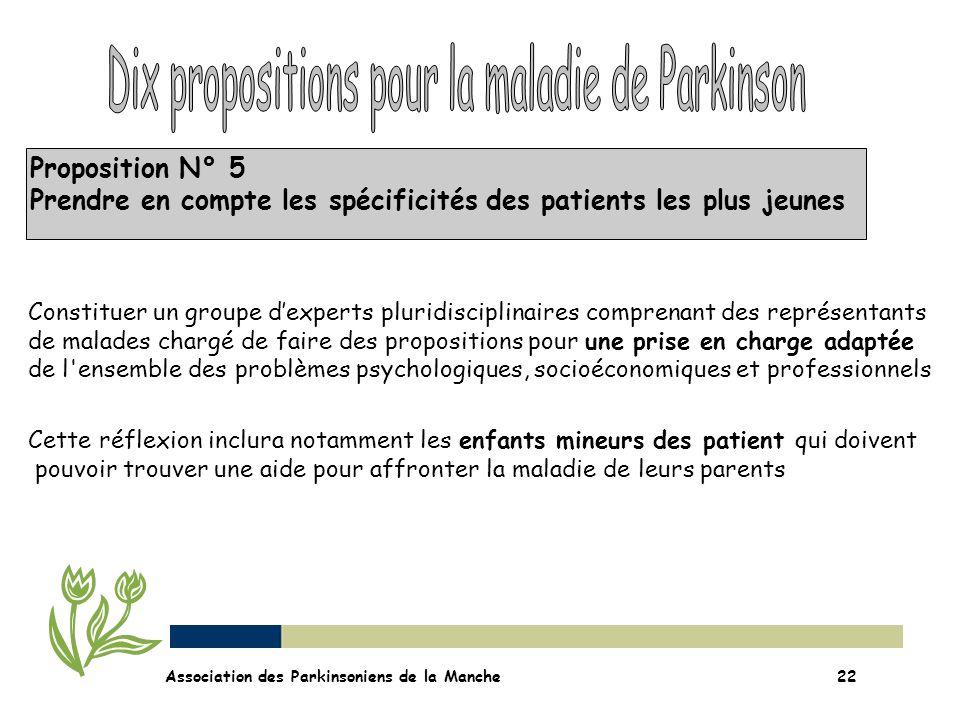 Dix propositions pour la maladie de Parkinson