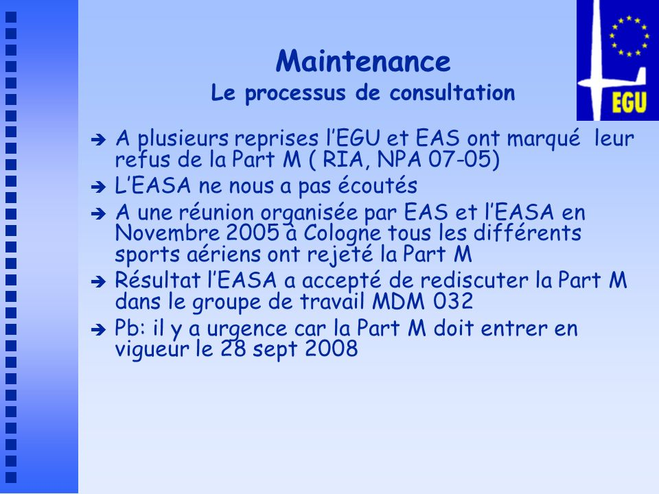 Maintenance Le processus de consultation