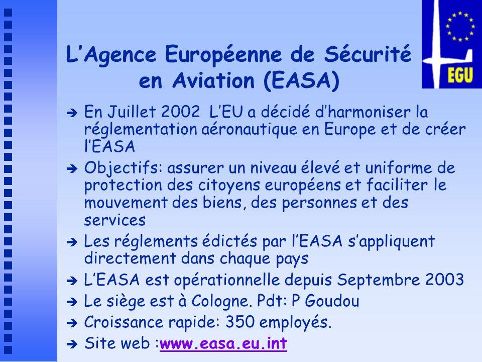 L'Agence Européenne de Sécurité en Aviation (EASA)