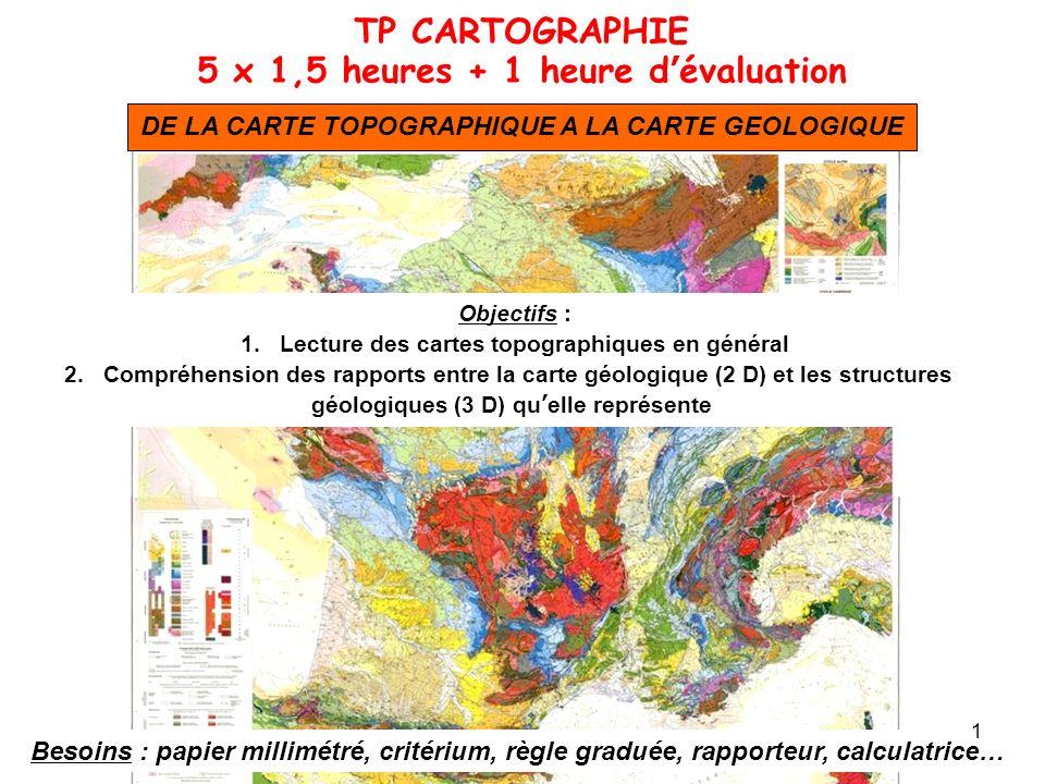 TP CARTOGRAPHIE 5 x 1,5 heures + 1 heure d'évaluation