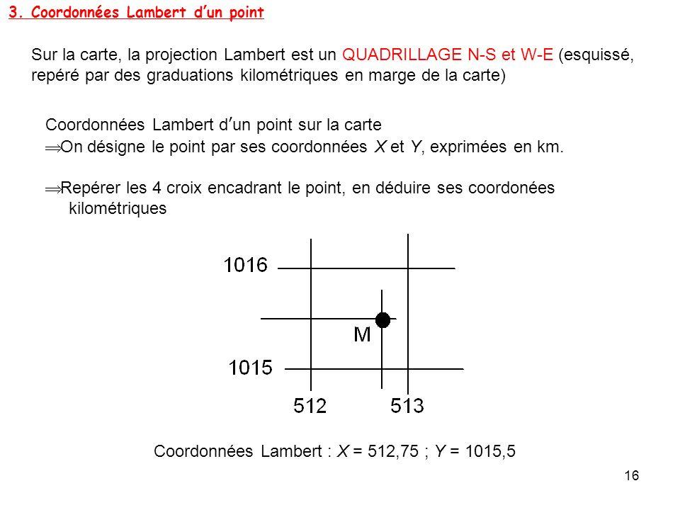 3. Coordonnées Lambert d'un point