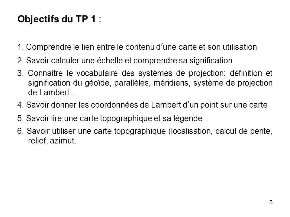 Objectifs du TP 1 : 1. Comprendre le lien entre le contenu d'une carte et son utilisation.