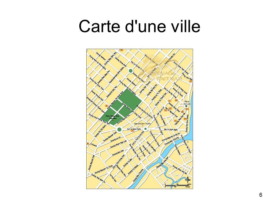 Carte d une ville
