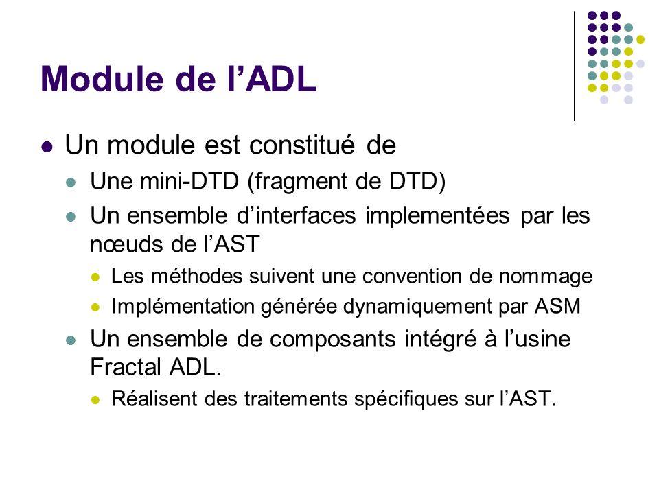 Module de l'ADL Un module est constitué de