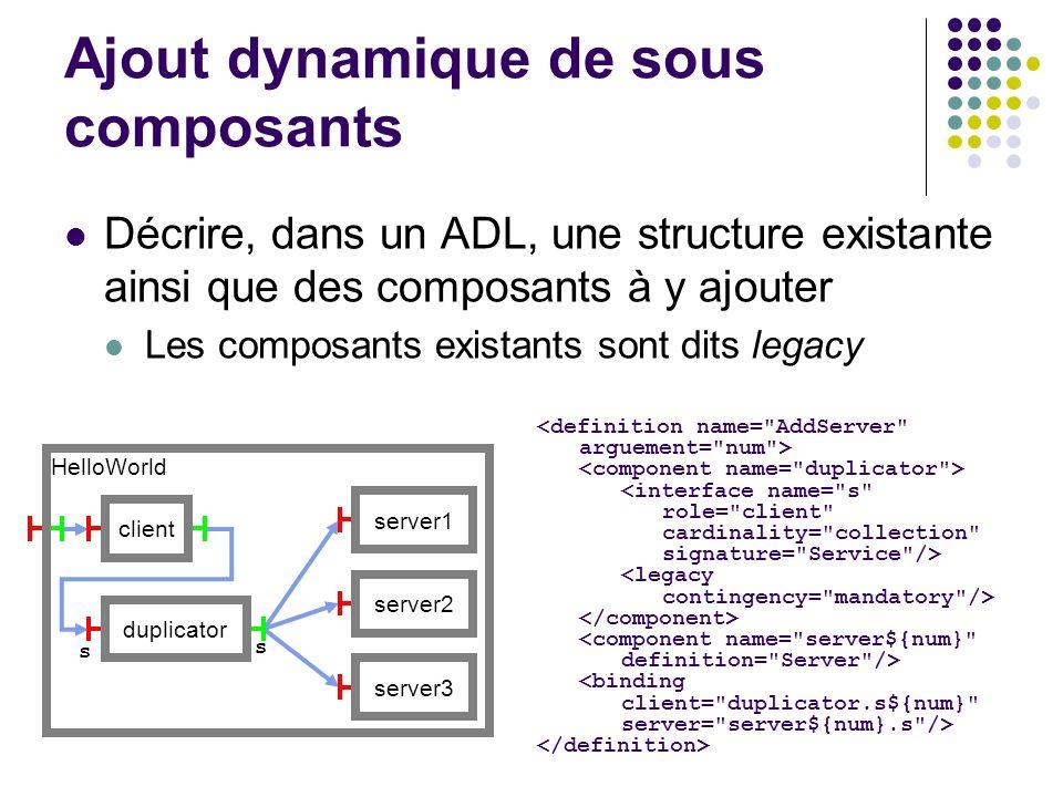 Ajout dynamique de sous composants