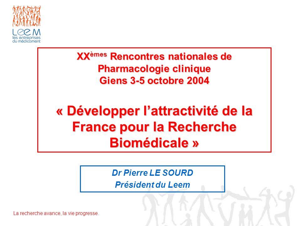 Dr Pierre LE SOURD Président du Leem