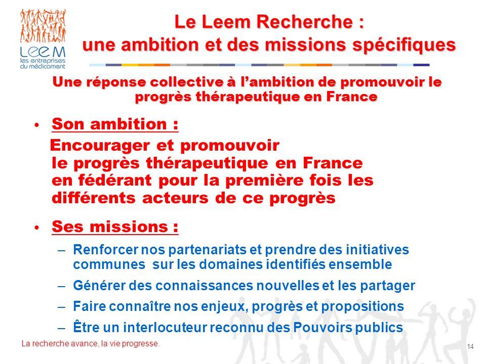 Le Leem Recherche : une ambition et des missions spécifiques