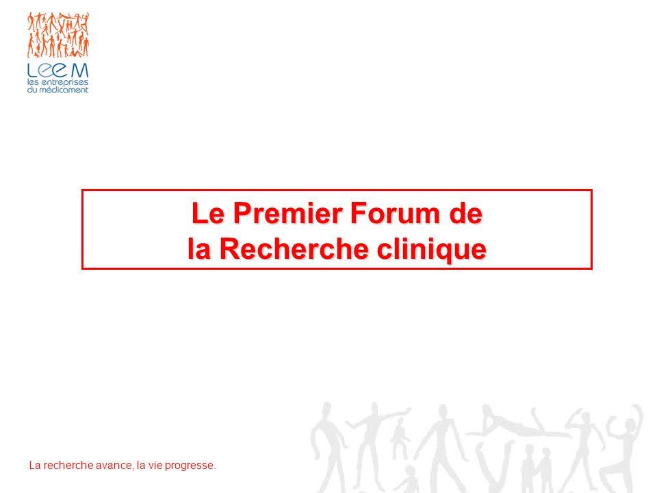 Le Premier Forum de la Recherche clinique