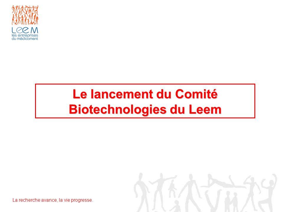 Le lancement du Comité Biotechnologies du Leem