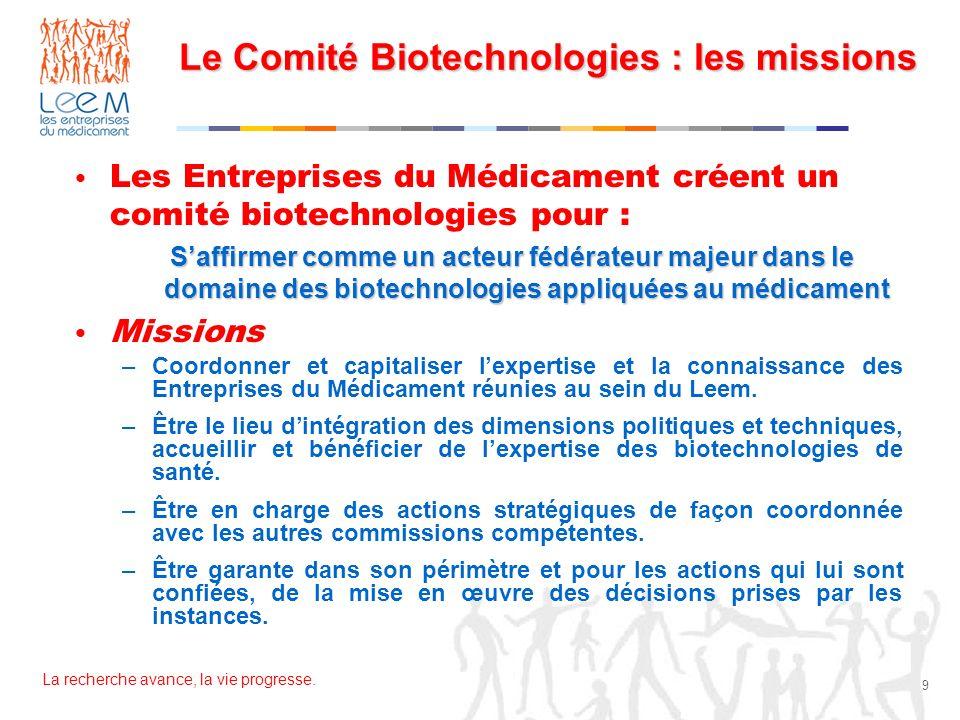 Le Comité Biotechnologies : les missions