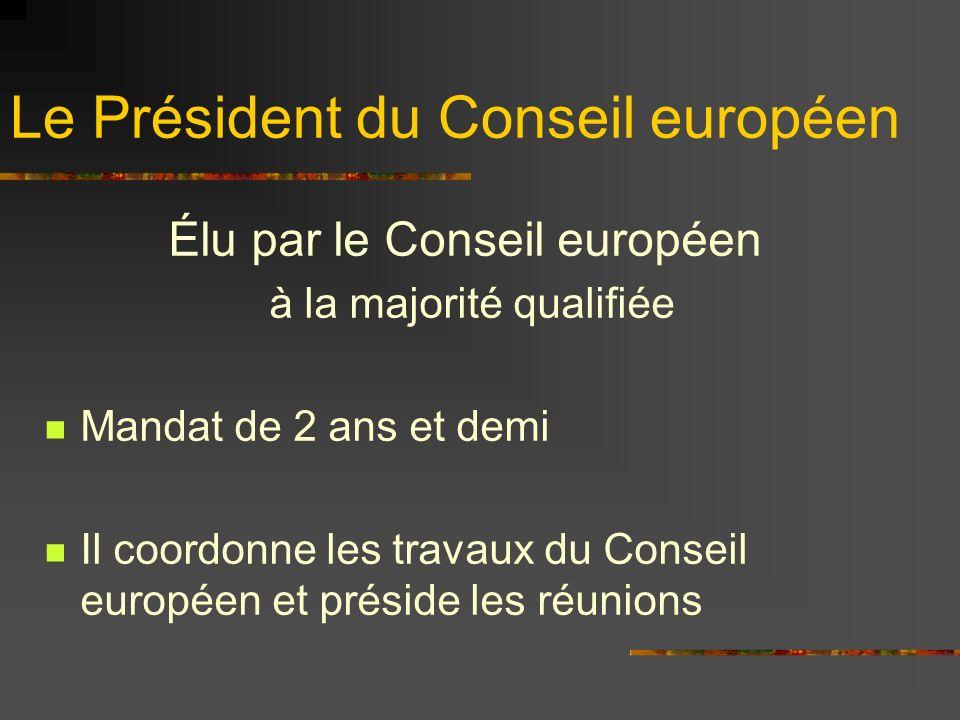 Le Président du Conseil européen