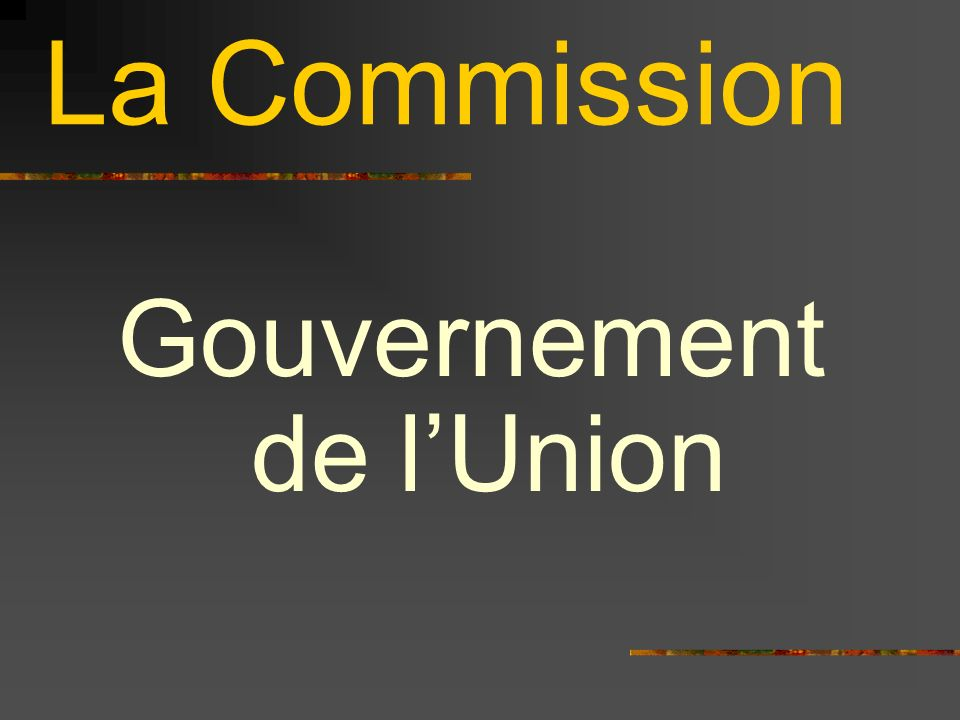 Gouvernement de l'Union