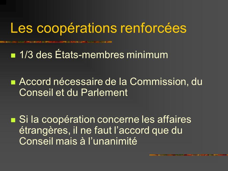Les coopérations renforcées