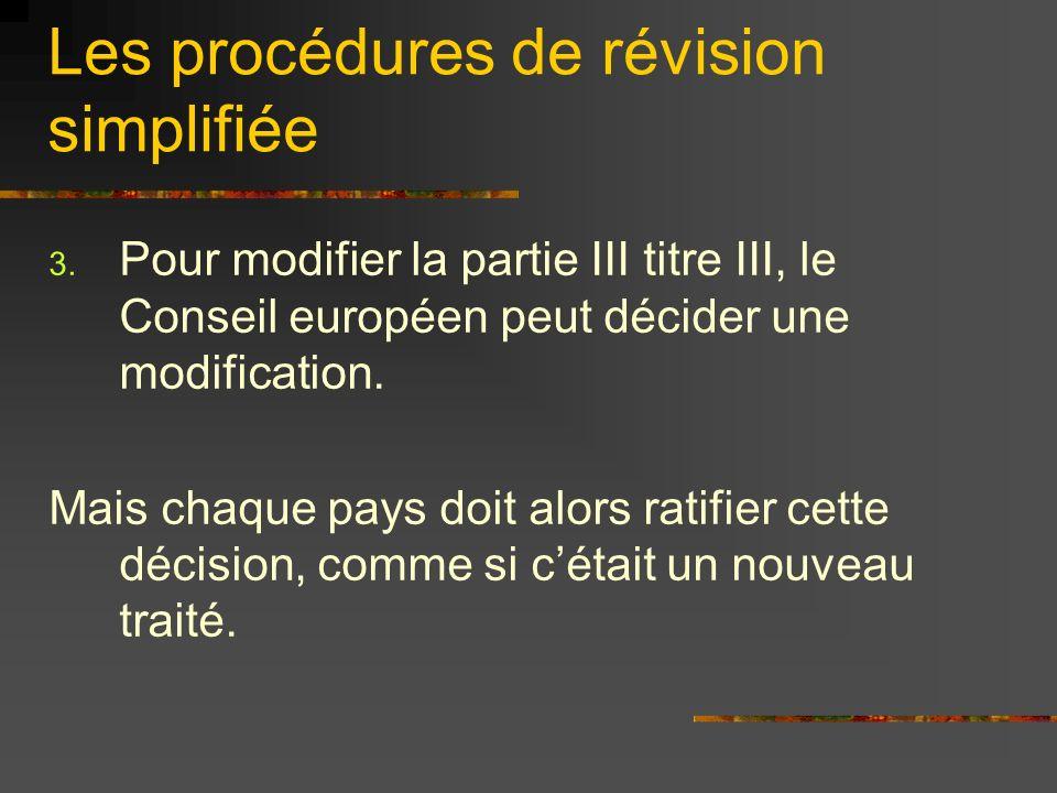 Les procédures de révision simplifiée